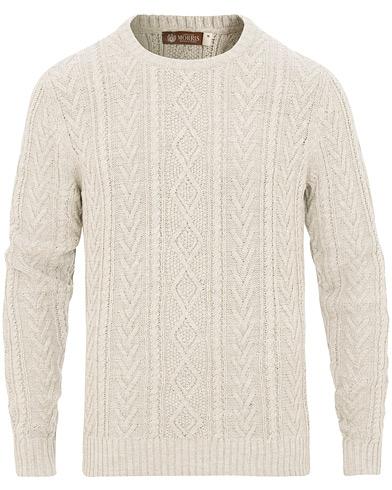 Morris Heritage Cable Sweater Grey i gruppen Kläder / Tröjor / Stickade tröjor hos Care of Carl (15514511r)