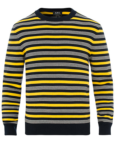 A.P.C Rick Striped Knit Crew Neck Multi Colour i gruppen Klær / Gensere / Strikkede gensere hos Care of Carl (15517211r)