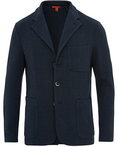 Barena Torceo Mesola Jersey Blazer Navy i gruppen Tøj / Blazere & jakker / Enkeltradede blazere hos Care of Carl (15518211r)