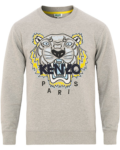Kenzo Tiger Classic Sweatshirt Grey Melange i gruppen Klær / Gensere / Sweatshirts hos Care of Carl (15522511r)