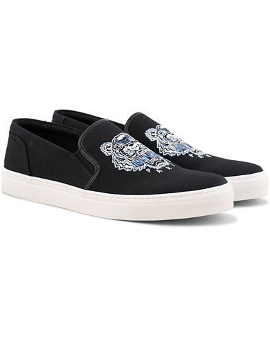 Kenzo Canvas Tiger K-Skate Slip-on Sneaker Black i gruppen Sko / Sneakers / Slip-on sneakers hos Care of Carl (15525511r)