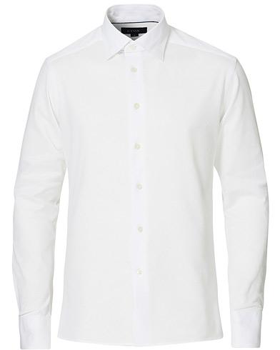 Eton Slim Fit Jersey Button Under Shirt White i gruppen Klær / Skjorter / Casual / Pikéskjorter hos Care of Carl (15540811r)