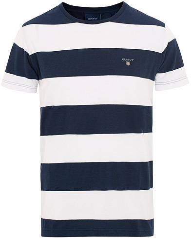 GANT Barstripe Tee White/Navy i gruppen Klær / T-Shirts / Kortermede t-shirts hos Care of Carl (15567211r)