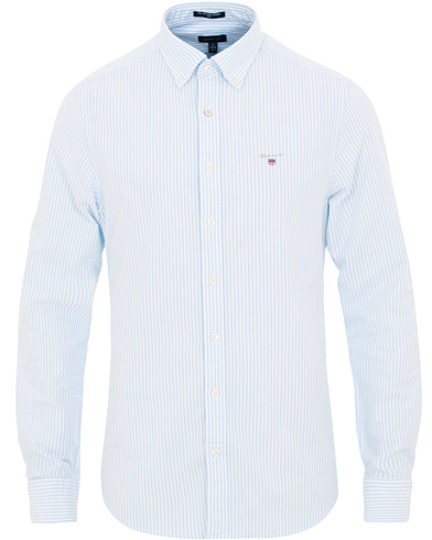 GANT Slim Fit Oxford Banker Stripe Shirt Capri Blue i gruppen Klær / Skjorter / Casual / Oxfordskjorter hos Care of Carl (15568411r)