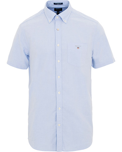 GANT Regular Fit Oxford Short Sleeve Shirt Capri Blue i gruppen Klær / Skjorter / Casual / Kortermede skjorter hos Care of Carl (15569211r)