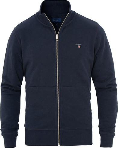 GANT Full Zip Sweater Evening Blue i gruppen Klær / Gensere / Zip-gensere hos Care of Carl (15571111r)