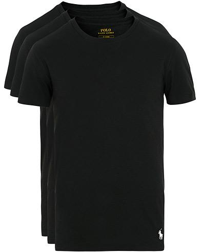 Polo Ralph Lauren 3-Pack Crew Neck Tee Black i gruppen Klær / T-Shirts / Kortermede t-shirts hos Care of Carl (15580211r)