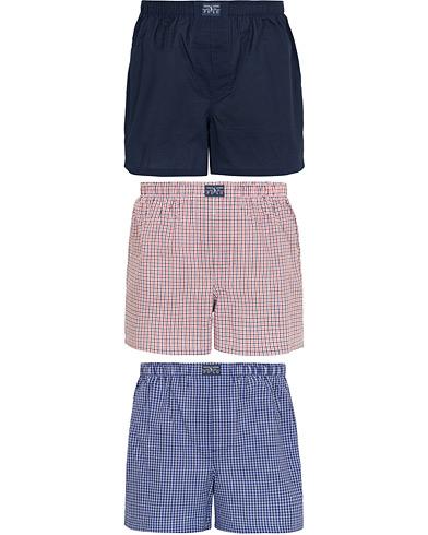 Polo Ralph Lauren 3-Pack Woven Gingham Boxer Navy/Red/Blue i gruppen Klær / Undertøy / Underbukser hos Care of Carl (15580811r)