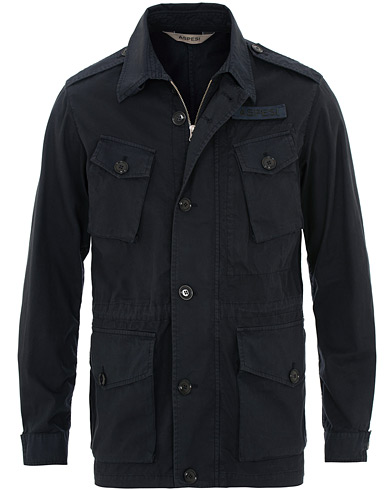Aspesi Vancouver Cotton Field Jacket Navy i gruppen Kläder / Jackor / Field jackets hos Care of Carl (15584111r)