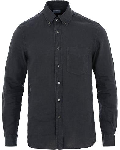 Aspesi Linen Button Down Shirt Navy i gruppen Kläder / Skjortor / Casual / Linneskjortor hos Care of Carl (15585711r)