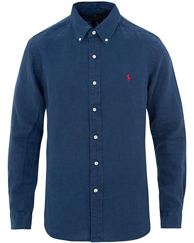 Polo Ralph Lauren Slim Fit Linen Shirt Holiday Navy i gruppen Kläder / Skjortor / Casual / Linneskjortor hos Care of Carl (15592311r)