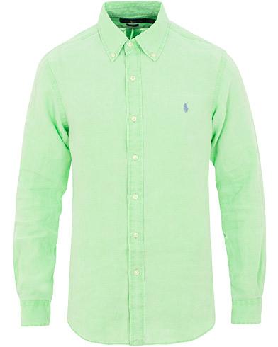 Polo Ralph Lauren Slim Fit Linen Shirt New Lime i gruppen Kläder / Skjortor / Casual / Linneskjortor hos Care of Carl (15592411r)