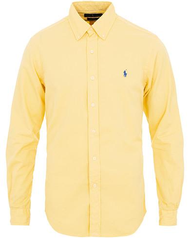 Polo Ralph Lauren Slim Fit Featherweight Twill Shirt Empire Yellow i gruppen Klær / Skjorter / Casual / Casual skjorter hos Care of Carl (15593411r)