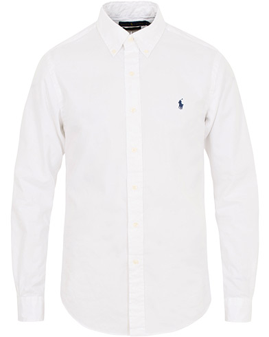 Polo Ralph Lauren Slim Fit Featherweight Twill Shirt White i gruppen Kläder / Skjortor / Casual / Casual skjortor hos Care of Carl (15593511r)