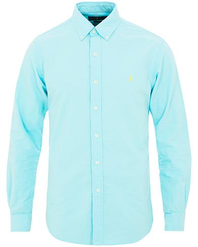 Polo Ralph Lauren Slim Fit Garment Dyed Oxford Shirt Hammond Blue i gruppen Klær / Skjorter / Casual / Oxfordskjorter hos Care of Carl (15594111r)