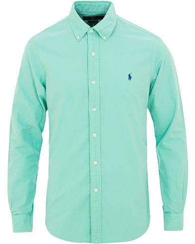 Polo Ralph Lauren Slim Fit Garment Dyed Oxford Shirt Sunset Green i gruppen Klær / Skjorter / Casual / Oxfordskjorter hos Care of Carl (15594211r)