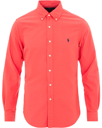 Polo Ralph Lauren Slim Fit Garment Dyed Oxford Shirt Cactus Flower i gruppen Kläder / Skjortor / Casual / Oxfordskjortor hos Care of Carl (15594511r)