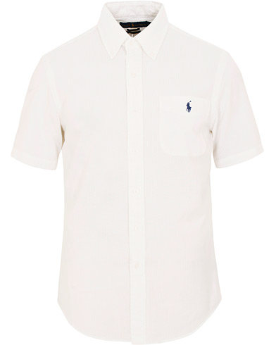 Polo Ralph Lauren Slim Fit Seersucker Short Sleeve Shirt White i gruppen Kläder / Skjortor / Casual / Kortärmade skjortor hos Care of Carl (15595311r)