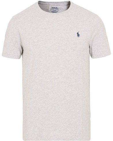 Polo Ralph Lauren Crew Neck Tee Light Smoke Heather i gruppen Kläder / T-Shirts / Kortärmade t-shirts hos Care of Carl (15599211r)