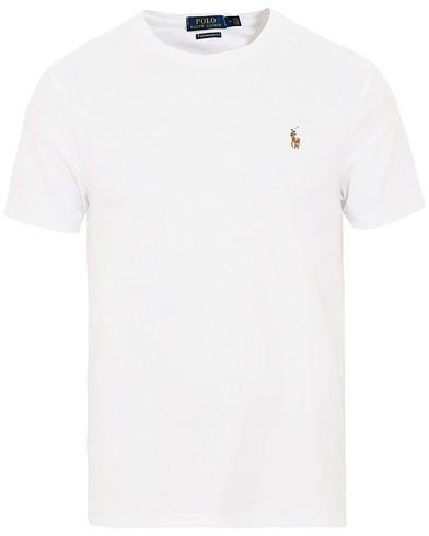 Polo Ralph Lauren Luxury Pima Cotton Crew Neck Tee White i gruppen Klær / T-Shirts / Kortermede t-shirts hos Care of Carl (15599511r)