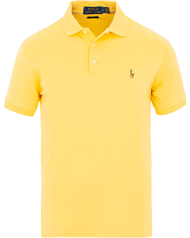 Polo Ralph Lauren Custom Slim Fit Luxury Pima Cotton Polo Fall Yellow i gruppen Tøj / Polotrøjer / Kortærmede polotrøjer hos Care of Carl (15604711r)