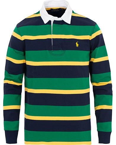 Polo Ralph Lauren Stripe Rugger Green/Yellow/Navy i gruppen Kläder / Tröjor / Rugbytröjor hos Care of Carl (15610111r)