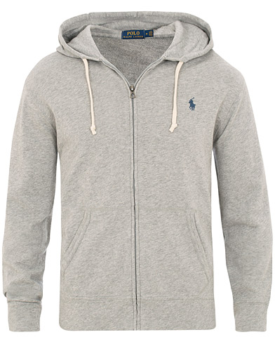 Polo Ralph Lauren Spa Terry Full Zip Hoodie Andover Heather i gruppen Kläder / Tröjor / Huvtröjor hos Care of Carl (15610911r)