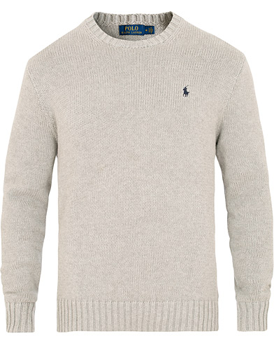 Polo Ralph Lauren Cotton Crew Neck Pullover Andover Grey i gruppen Klær / Gensere / Strikkede gensere hos Care of Carl (15612511r)