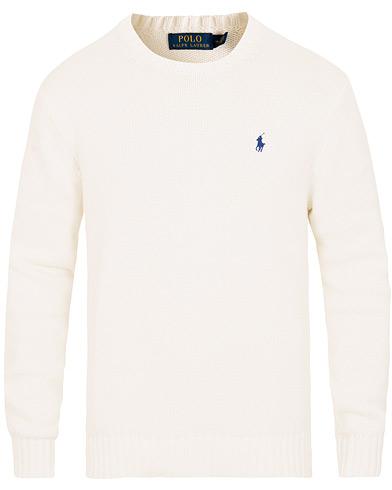 Polo Ralph Lauren Cotton Crew Neck Pullover White i gruppen Kläder / Tröjor / Stickade tröjor hos Care of Carl (15612611r)