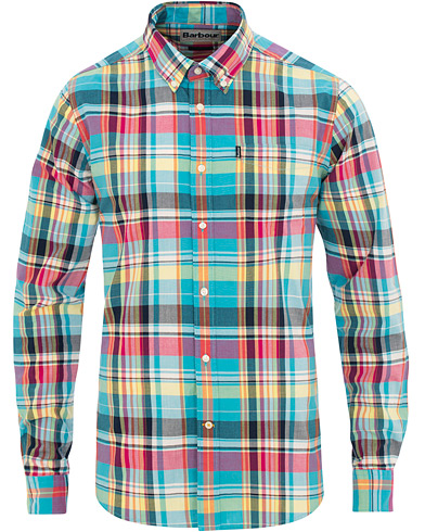 Barbour Lifestyle Tailored Fit Madras 2 Shirt Aqua i gruppen Klær / Skjorter / Casual / Casual skjorter hos Care of Carl (15621111r)
