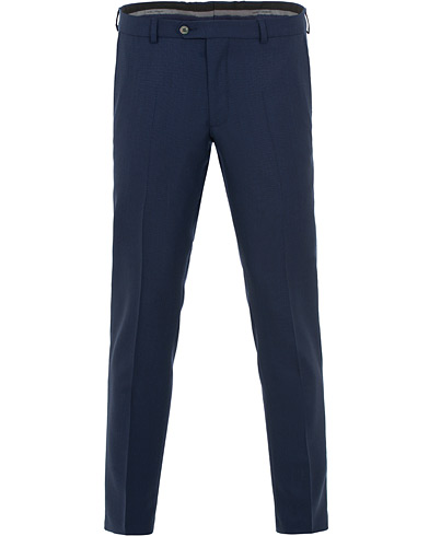 Oscar Jacobson Denz Wool Structure Trousers Navy i gruppen Kläder / Byxor / Kostymbyxor hos Care of Carl (15662411r)