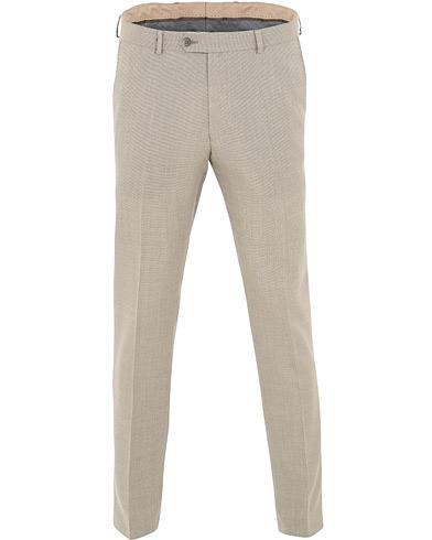 Oscar Jacobson Denz Wool Structure Trousers Beige i gruppen Klær / Bukser / Dressbukser hos Care of Carl (15662511r)