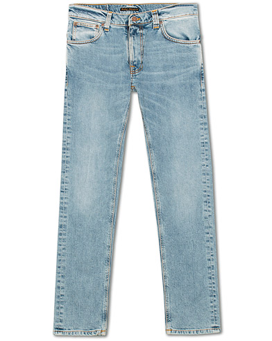 Nudie Jeans Thin Finn Organic Jeans Light Blue Comfort i gruppen Klær / Jeans hos Care of Carl (15678911r)