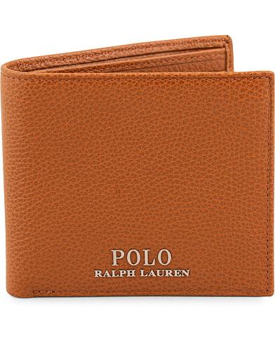 Polo Ralph Lauren Billfold Leather Wallet Polo Tan  i gruppen Assesoarer / Lommebøker / Vanlige lommebøker hos Care of Carl (15688010)