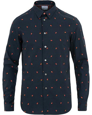 PS by Paul Smith Slim Fit Printed Shirt Navy i gruppen Kläder / Skjortor / Casual / Casual skjortor hos Care of Carl (15690111r)