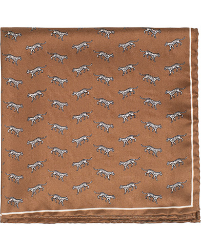 Tiger of Sweden Plex Tiger Printed Pocket Square Brown  i gruppen Tilbehør / Lommeklude hos Care of Carl (15709210)