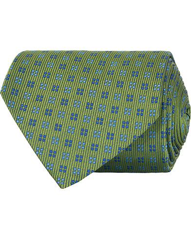 Turnbull & Asser Mini Square Spot Silk 9,5cm Tie Green/Blue  i gruppen Tilbehør / Slips hos Care of Carl (15713210)
