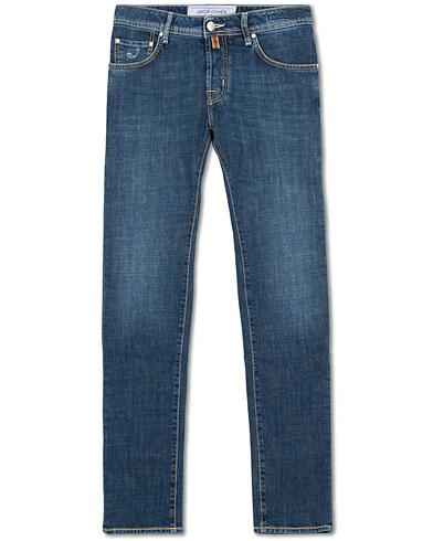Jacob Cohën 622 Slim Fit Jeans Mid Blue i gruppen Kläder / Jeans hos Care of Carl (15723511r)