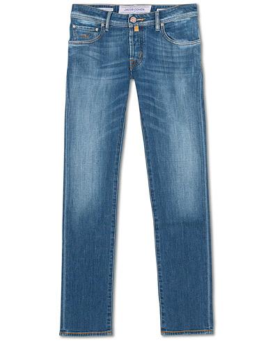 Jacob Cohën 622 Slim Fit Jeans Mid Blue i gruppen Kläder / Jeans hos Care of Carl (15723811r)