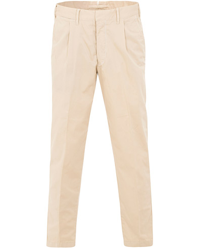 The Gigi Santiago Pleated Cotton Chinos Khaki i gruppen Tøj / Bukser / Chinos hos Care of Carl (15736811r)