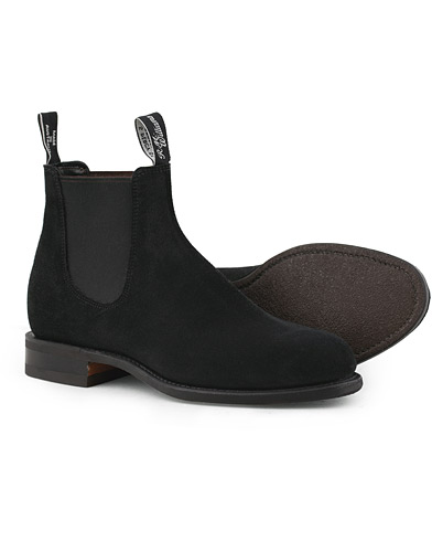 R.M.Williams Wentworth G Boot Black Suede i gruppen Sko / Støvler hos Care of Carl (15746911r)