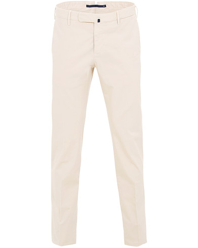 Incotex Slim Fit Stretch Chinos Off White i gruppen Klær / Bukser / Chinos hos Care of Carl (15760811r)