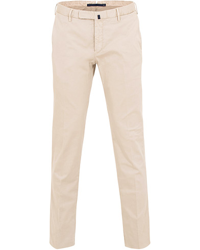 Incotex Slim Fit Twill Chinos Khaki i gruppen Klær / Bukser / Chinos hos Care of Carl (15761311r)
