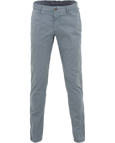 Incotex Slim Fit Stretch Slacks Steel Blue i gruppen Klær / Bukser / Chinos hos Care of Carl (15762311r)