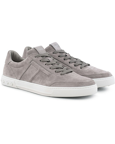 Tod's Cassetta Sportivo Sneaker Light Grey Suede i gruppen Sko / Sneakers / Sneakers med lavt skaft hos Care of Carl (15766211r)