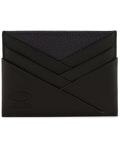 Tod's Origami Credit Card Holder Black/Blue Calf  i gruppen Assesoarer / Lommebøker hos Care of Carl (15766410)
