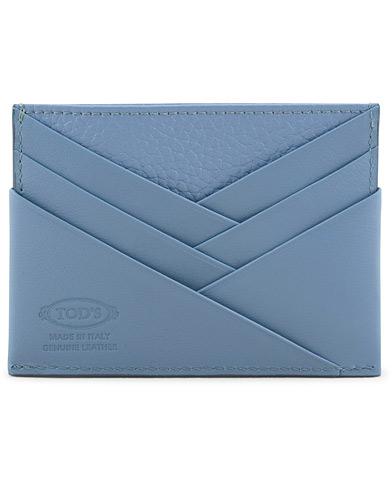 Tod's Origami Credit Card Holder Dry Blue Calf  i gruppen Accessoarer / Plånböcker hos Care of Carl (15766510)