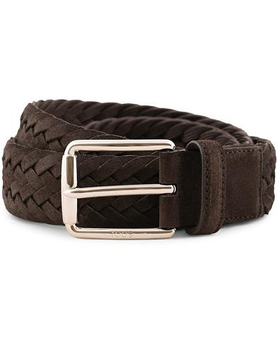 Tod's Intreccio Woven Belt Dark Brown Suede i gruppen Assesoarer / Belter / Flettede belter hos Care of Carl (15766711r)