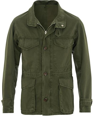 L.B.M. 1911 Cotton Twill Field Jacket Military Green i gruppen Kläder / Jackor / Field jackets hos Care of Carl (15766911r)