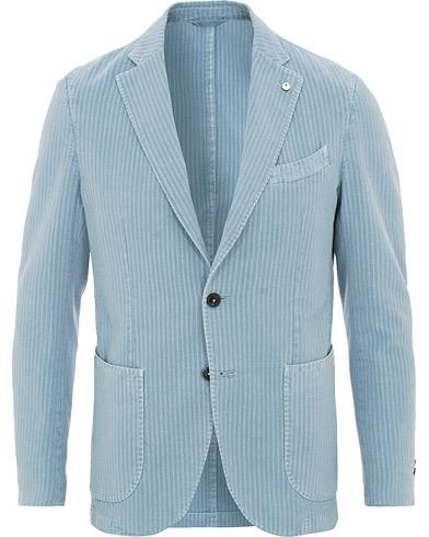 L.B.M. 1911 Jack Regular Fit Tonal Seersucker Blazer Washed Blue i gruppen Klær / Dressjakker / Enkeltspente dressjakker hos Care of Carl (15768011r)